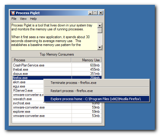 Process Piglet 1 01 14 free download - Software reviews