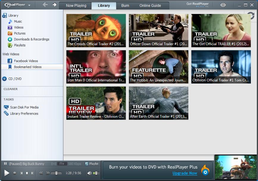 إصدار جديد من برنامج ريال بلير الشهير لتشغيل الوسائط المتعددة RealPlayer 16.0.1