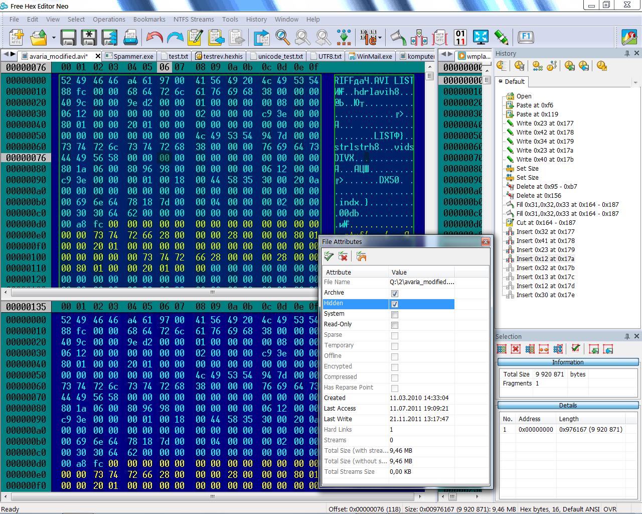 editeur hexadecimal freeware