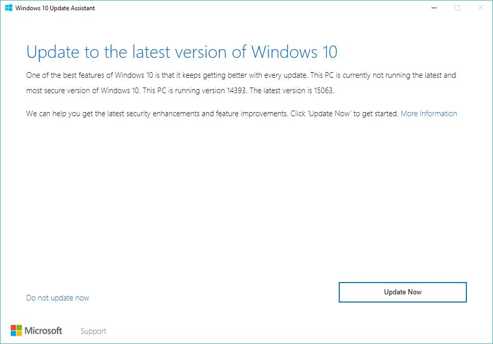 Windows 10 Creators Update Upgrade Assistant Free Download