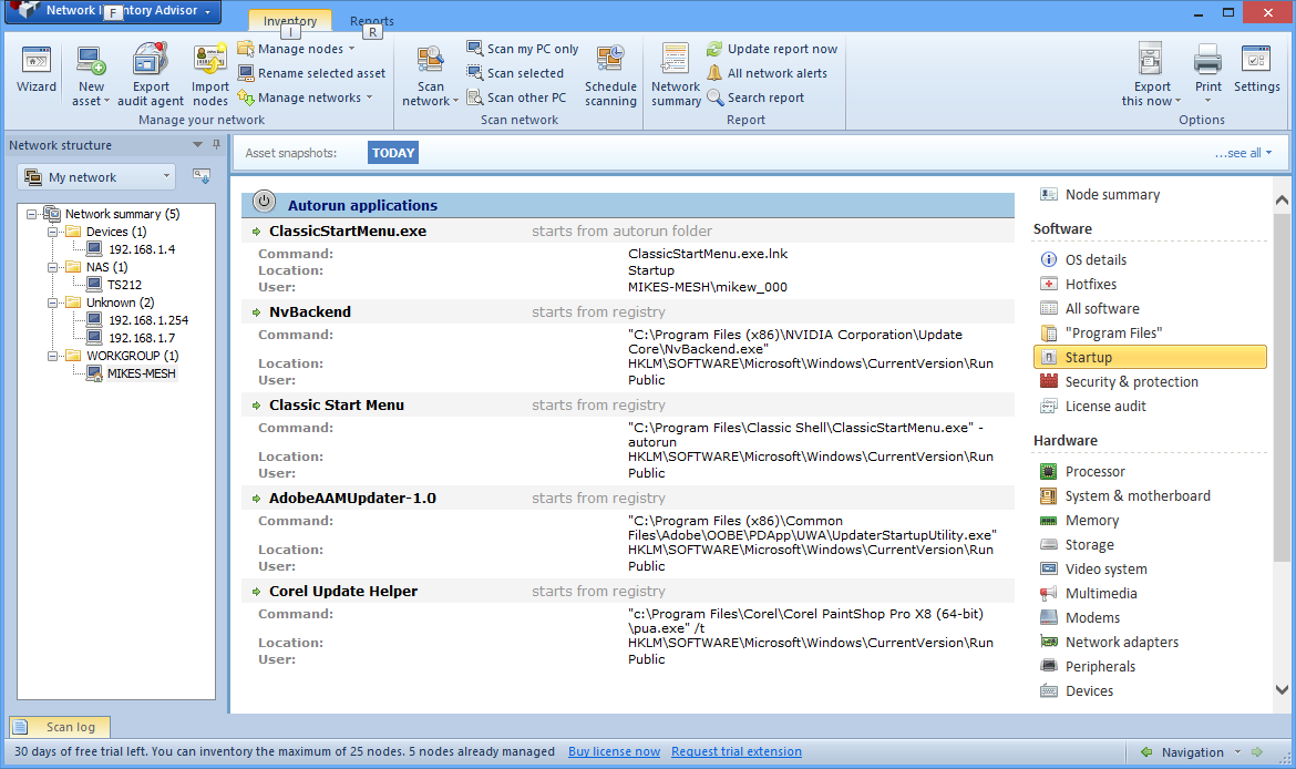 Network inventory advisor 5. 0. 167 download for pc free.