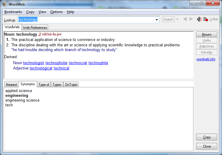 Wordweb Install