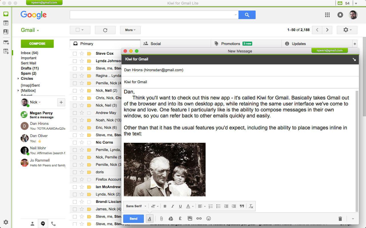 Kiwi for Gmail Lite 2 0 15 free download - Software reviews