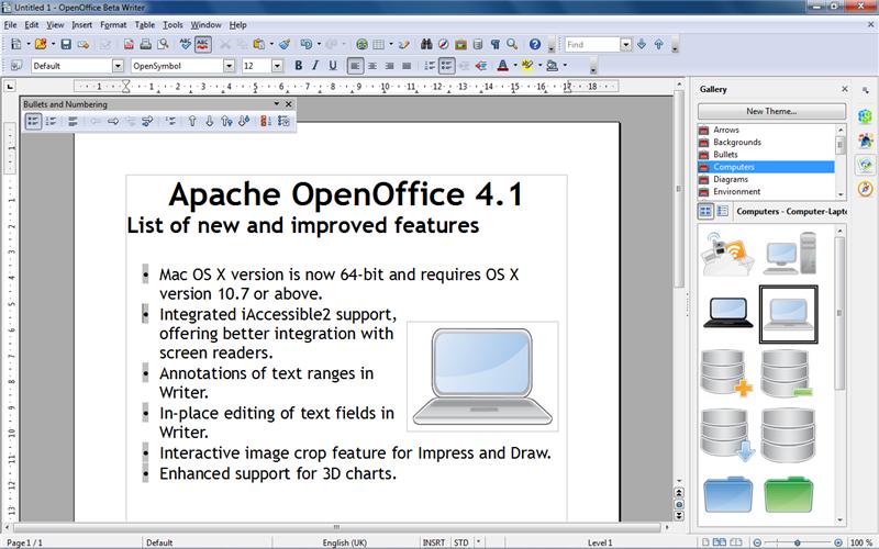 Openoffice 4.1.1 скачать бесплатно