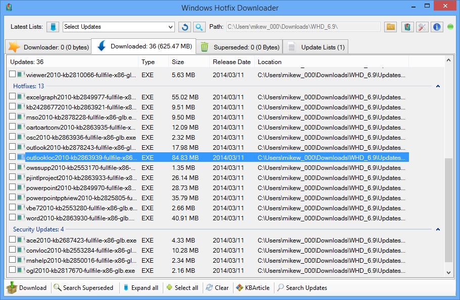 Windows Hotfix List
