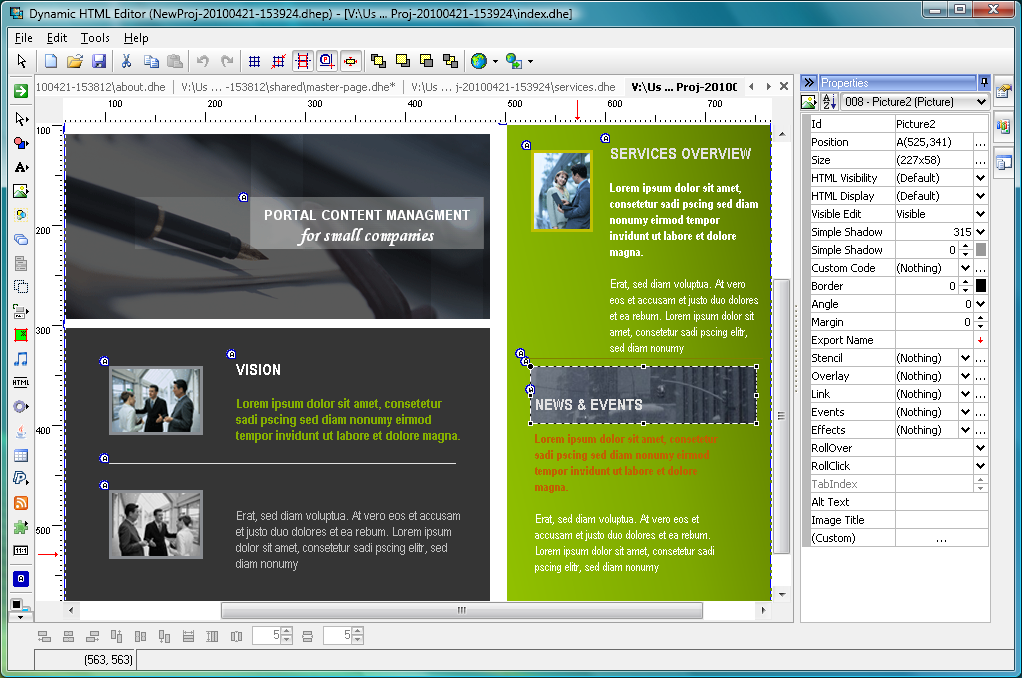 Dynamic Html Editor 6 8 Free Download Software Reviews Downloads News Free Trials Freeware