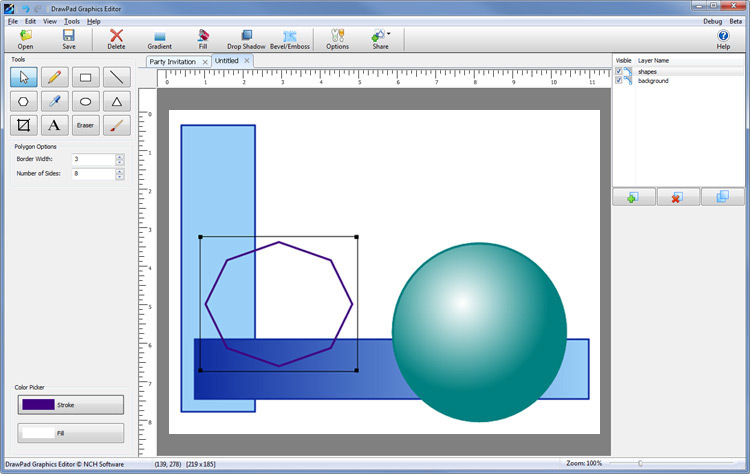 DrawPad Graphics Editor 6.04 free download - Software reviews ...