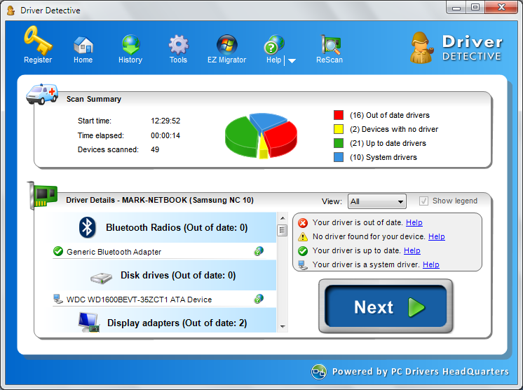 Device drivers backup restoration update and removal tool for Windows