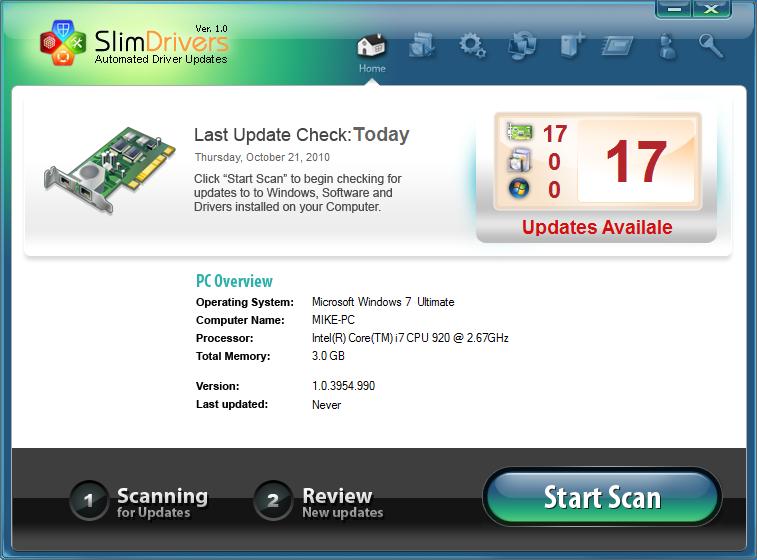 تحميل برنامج SlimDrivers 2.2.28413 للبحث عن التعريفات وتثبيتها بشكل تلقائى مجانى