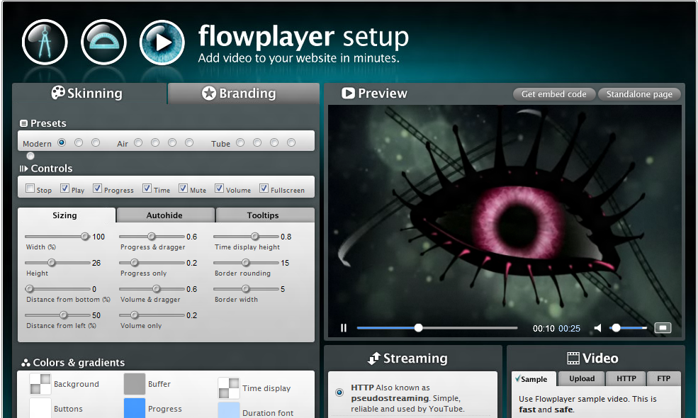 flowplayer video