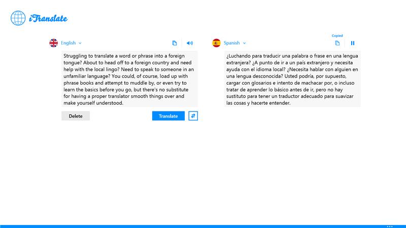 iTranslate ứng dụng dịch thuật hay cho Windows Phone 8 và Windows 8