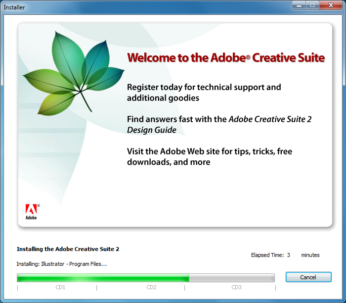 Use the 2005 edition of Adobe's Creative Suite - for free!