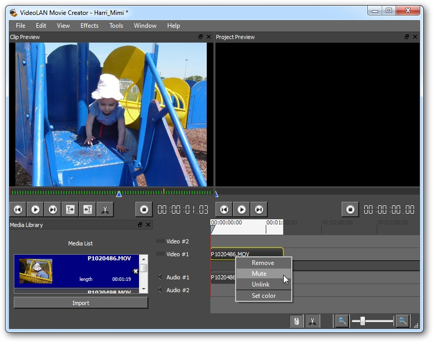 videolan movie creator 0.1.0