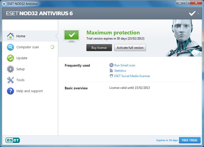 nod32 antivirus gratuit
