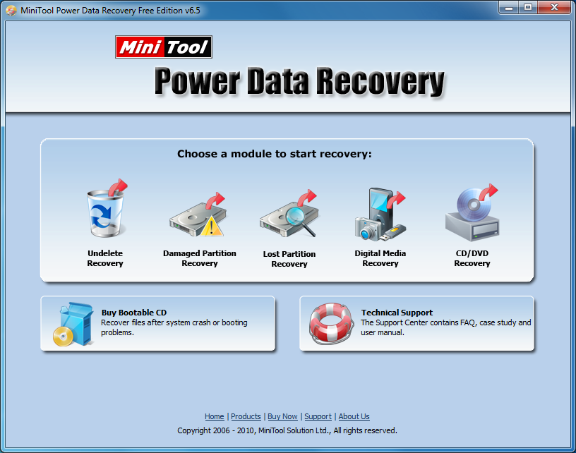 MiniTool Power Data Recovery Free 8 5 free download
