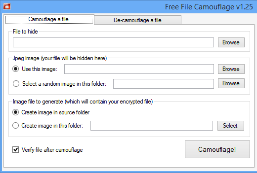 Free File Camouflage 1 25 free download - Software reviews