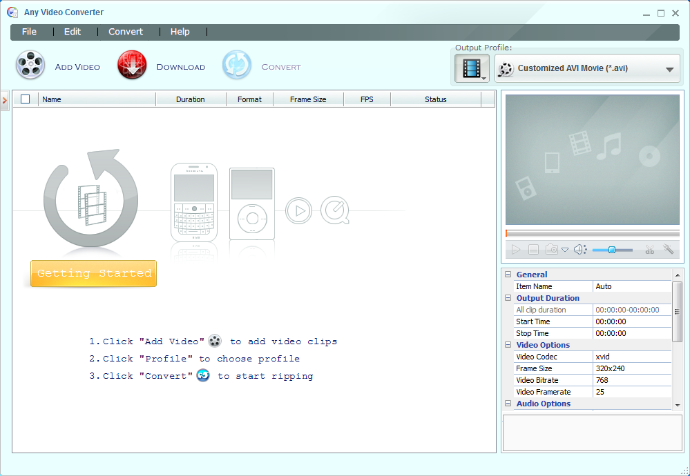 Any Video Converter Free 6.2.3 free download - Download