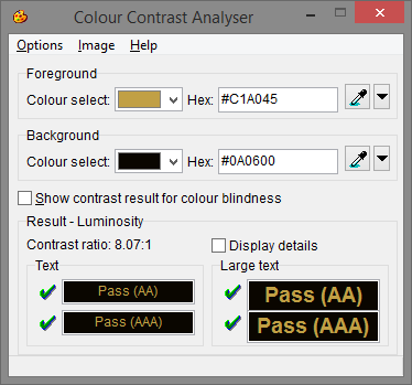 Colour Contrast Analyser 2 5 0 free download - Software