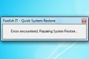 QuickSystemRestore 1.0.0.0