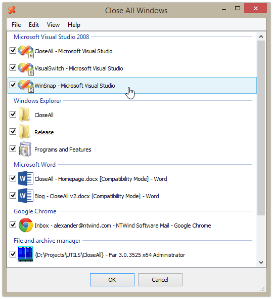 Close All Windows 2.0