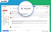 Save emails to PDF for Chrome