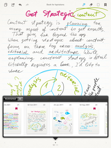 Note writing app for playbook exchange