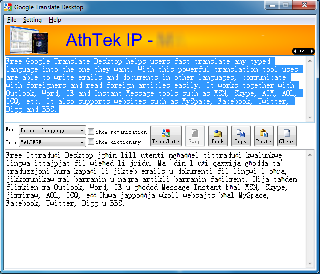 Google Translate Desktop 2 1 0 92 free download - Software reviews