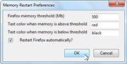 Memory Restart for Firefox