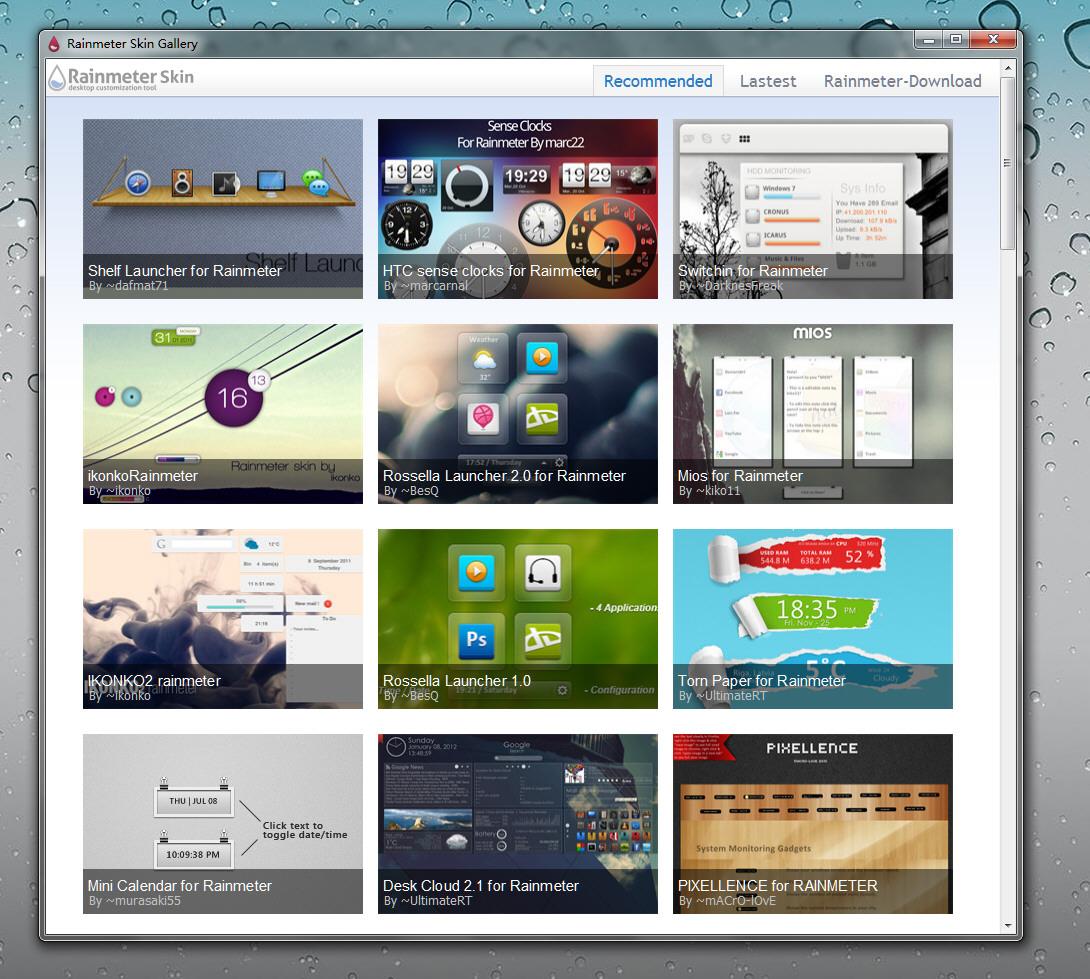 rainmeter skin installer free download for windows 7