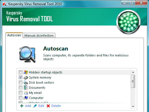 Soft net archive: kaspersky virus removal tool 9. 0. 0. 722.