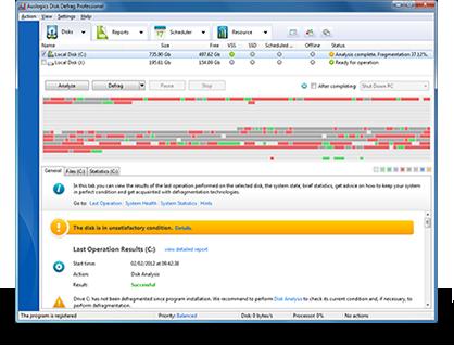Auslogics Disk Defrag Pro 4.7