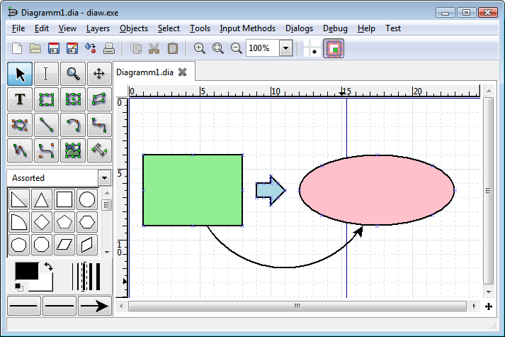 Dia 0972 free download download the latest freeware shareware create flowcharts circuit diagrams network representations and more with this powerful tool ccuart Choice Image