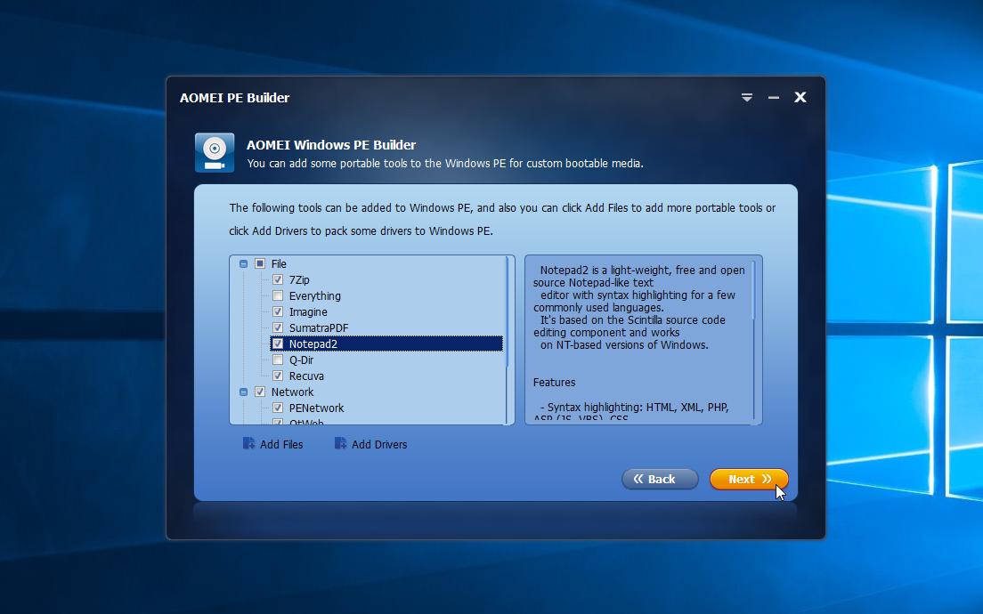AOMEI PE Builder 2 0 free download - Software reviews, downloads