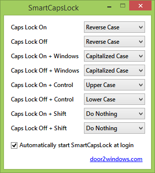 how to make a sentence caps lock
