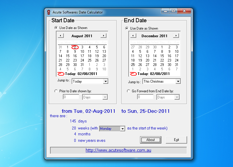 Date Calculator 2 2 free download - Software reviews