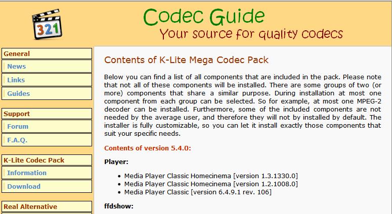 K lite codec pack full 12 8 0 free download software reviews downloads news free trials - K lite codec pack download free ...