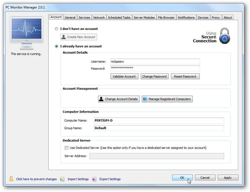 برنامج مجانى مميز جداً لمراقبة والتحكم بجهاز الكمبيوتر من اى جهاز اخر او من هاتفك المحمول بجميع الانظمة PC Monitor Manager 3.7.1