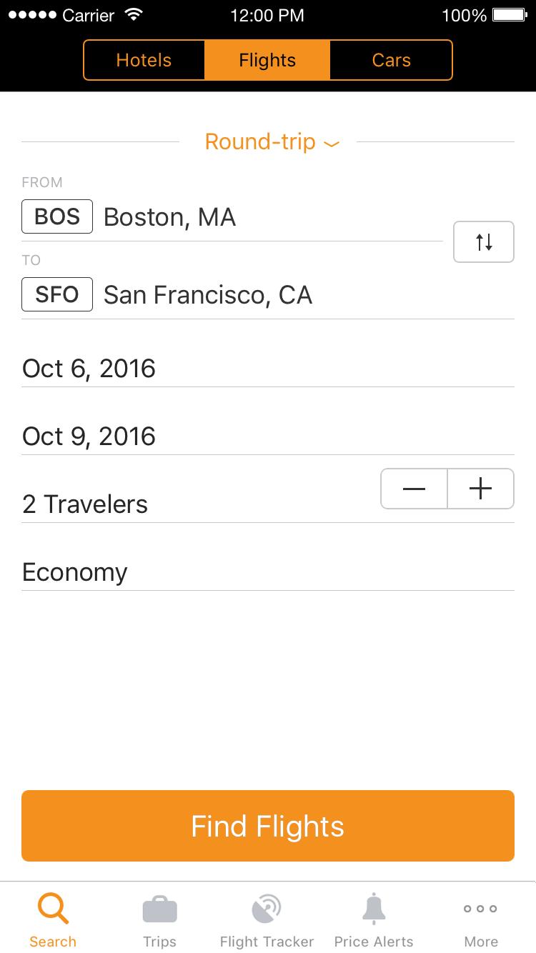 Search Flights, Hotels & Rental Cars
