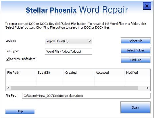 Stellar Phoenix Word Repair 6 0 0 1 free download
