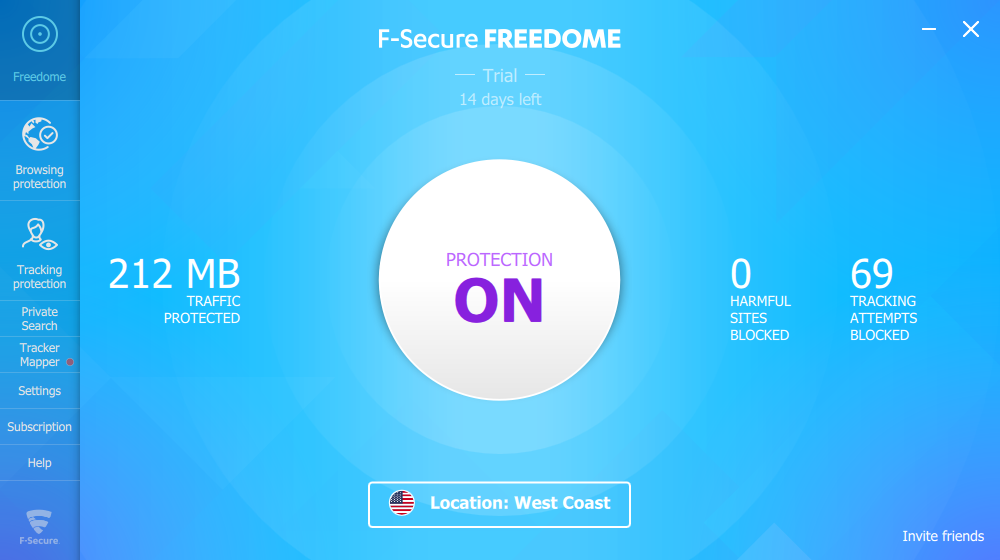 Free Dome f-secure freedome vpn 2.23 free download - software reviews