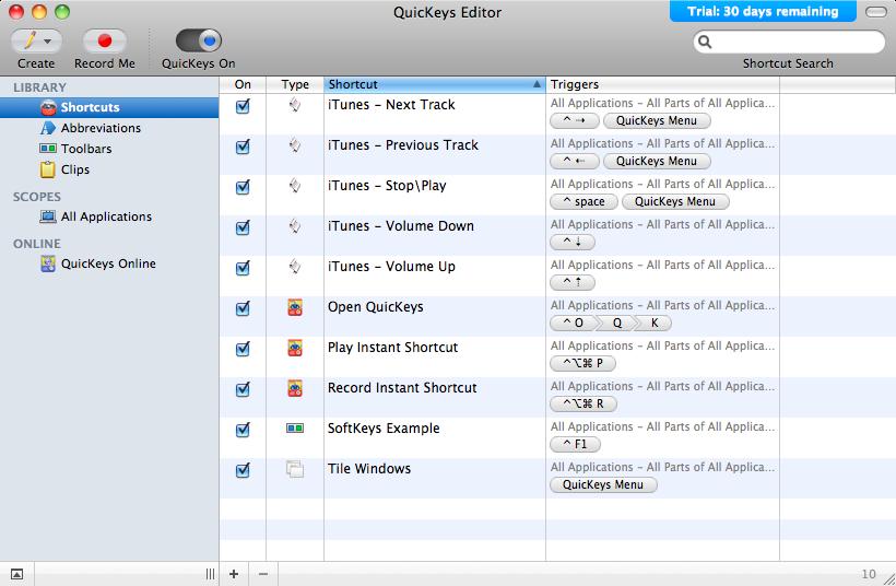 QuicKeys 4.0.7 free download - Downloads - freeware, shareware