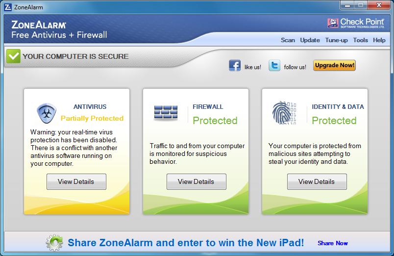 برنامج للحماية من الفيروسات + جدار الحماية المجانى ZoneAlarm Free Antivirus + Firewall