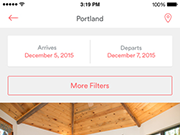 Quickly book alternative accomodation from your iOS device