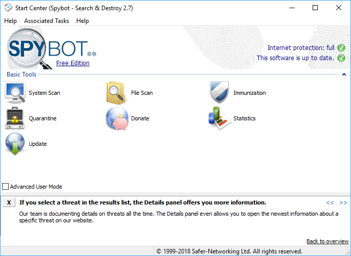 free spybot search and destroy for windows 7