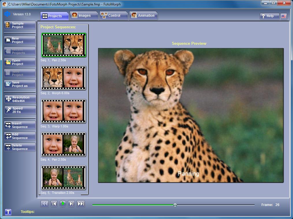 برنامج مجانى مميز لعمل وإنشاء رسوم متحركة وتصديرها لاى صيغة FotoMorph 13.8
