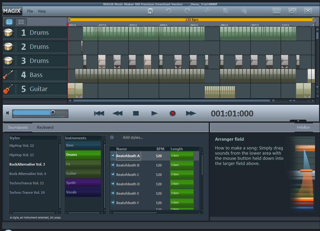 MAGIX Music Maker MX Premium (v18) free download - Software ...