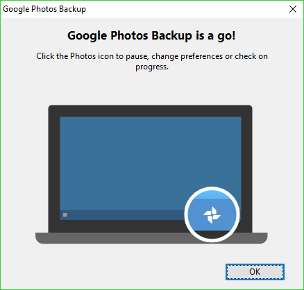 how to stop google photos backup on pc