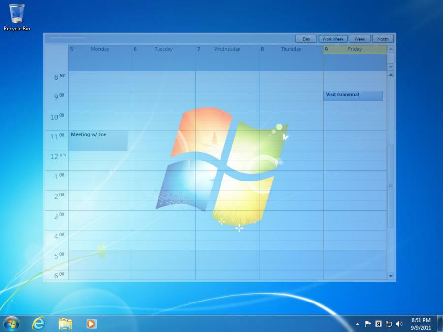 Desktop Calendar Windows 8 : Outlook on the desktop free download downloads