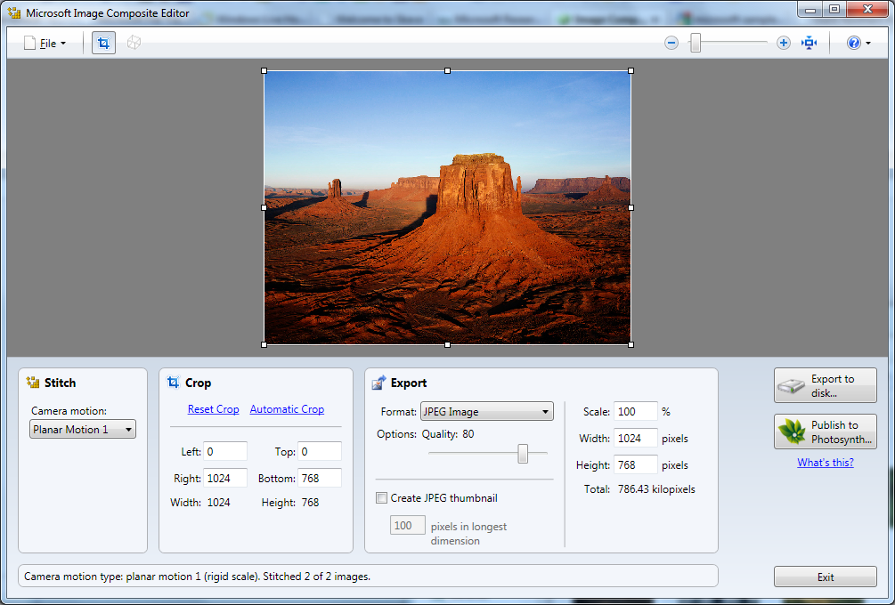 Create panoramic images with your photos using Microsoft Image Composite  Editor