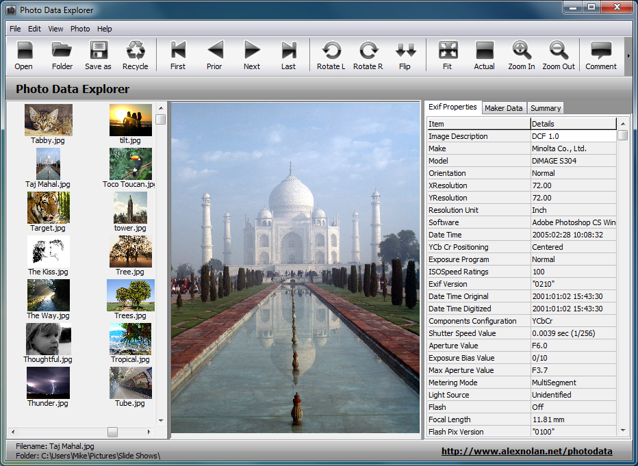 Photo Data Explorer 1 02 Beta Free Download Downloads